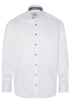 Clothing & Accessories  - ETERNA LANGE MOUW OVERHEMD COMFORT FIT GENTLE SHIRT TWILL WIT UNI