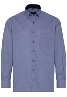 Clothing & Accessories  - ETERNA LANGE MOUW OVERHEMD COMFORT FIT TWILL BLAUW / WIT GERUIT