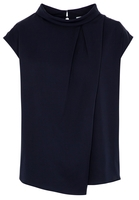 Clothing & Accessories  - KORTE MOUW BLOUSE 1863 BY ETERNA - PREMIUM MARINEBLAUW UNI
