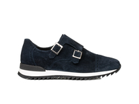 Shoes  - Adone - Double monk running suede navy