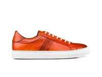 Shoes  - Caracalla - Low top orange steam crust leather sneakers