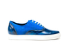 Danilo - Sneakers oxford polished blue suede blue royal