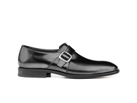 Dante - Black calf single buckle
