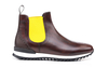 Febo - Chelsea boot running deco coffee calf black