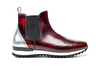 Febo - Chelsea boot running polished red shiny laminated silver