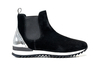 Febo - Chelsea boot running suede black shiny laminated silver