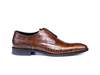 Frank - Croco Pattern Leather Men Derby Plain Shoes