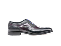 Shoes  - Fred - Black Grain Violet Polished Oxford Wing Brogue