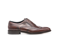 Shoes  - Fred - Coffee Deco Leather Men Oxford Wing Brogue