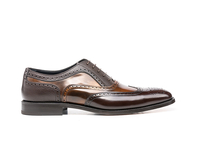 Shoes  - Fred - Coffee Grain bronze polished Oxford Wing Brogue