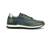 Italo - Low top running green and blue deco leather