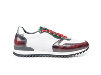 Italo - Low top running multicolor polished grain white