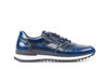 Italo - Low top running polished blue