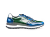 Italo - Low top running polished blue green