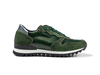 Italo - Low top running polished suede green