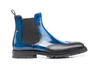 Luciano - Polished blue grain black Men Chelsea Boot