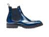 Luciano - Polished blue Men Chelsea Boot