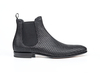 Roberto - Black Pattern Leather Men Chelsea Boot