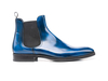 Roberto - Blue Polished Leather Men Chelsea Boot
