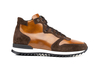 Romano - High top running polished suede leather brown