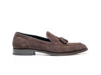 Romeo - Coffee Suede Leather Men Tassel Loafer
