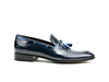 Romeo - Shiny blue tassel loafer
