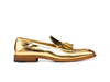 Romeo - Shiny Gold Leather Men Tassel Loafer