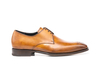 Tiberio - Tan Calf Crust Leather Men Derby Punch