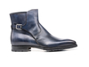 Tito - Navy Calf Crust Leather Men Buckle Boot