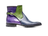 Tito - Navy Green Violet Calf Crust Leather Men Buckle Boot