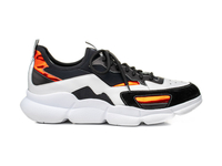 Vulcano - Sock sneakers calf white suede black Plump Vibram